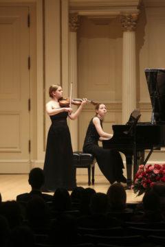 with Kristina Raczyńska in Carnegie Hall